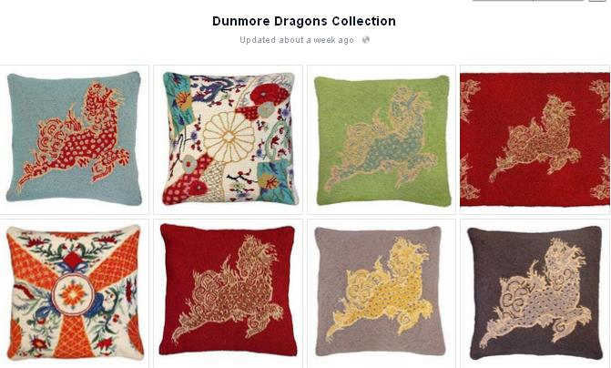 Dunmore dragon pillows